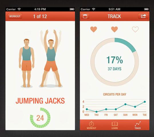 Application seven pour perdre du poids en faisant du sport